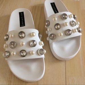 591bdbd7d06 Steven By Steve Madden Shoes - ✨NEW✨ Steve Madden Sahil Embellished Slides